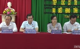 Đại biểu HĐND tiếp xúc cử tri báo cáo kết quả kỳ họp