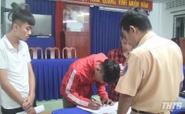 Công an Châu Thành xử phạt các đối tượng đua xe trái phép