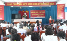 Thượng tướng Nguyễn Trọng Nghĩa tiếp xúc cử tri huyện Gò Công Đông