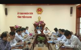 HĐND tỉnh Tiền Giang làm việc với UBND tỉnh về công tác cấp giấy chứng nhận quyền sử dụng đất