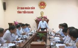 UBND tỉnh Tiền Giang họp Tiểu ban Văn kiện Đại hội Đảng bộ tỉnh lần thứ XI