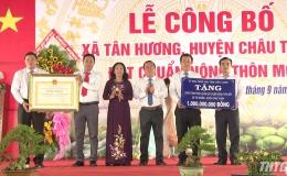 Xã Tân Hương, huyện Châu Thành ra mắt xã nông thôn mới