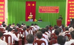 Đoàn ĐBQH tiếp xúc cử tri huyện Gò Công Tây