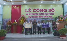 Ra mắt xã nông thôn mới xã Mỹ Phước, huyện Tân Phước