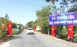 Xã Thạnh Lộc, huyện Cai Lậy ra mắt xã đạt chuẩn nông thôn mới