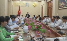 UBND tỉnh Tiền Giang họp đánh giá tình hình kinh tế – xã hội và triển khai giải pháp tháo gỡ