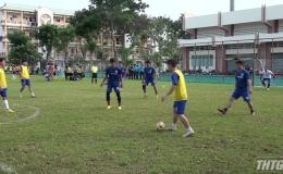 Khai mạc bóng đá bóng đá mini công nhân viên chức lao động, lực lượng vũ trang tỉnh Tiền Giang 2019