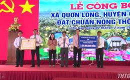 Xã Quơn Long, huyện Chợ Gạo ra mắt xã nông thôn mới