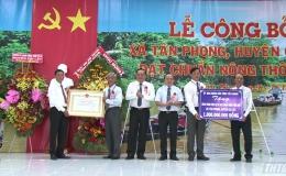Ra mắt xã nông thôn mới Tân Phong, huyện Cai Lậy