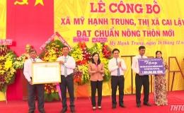 Xã Mỹ Hạnh Trung ra mắt xã nông thôn mới