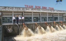Chủ tịch UBND tỉnh Tiền Giang kiểm tra công tác phòng chống hạn mặn