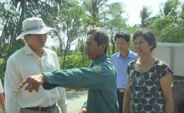 Chủ tịch UBND tỉnh khảo sát nước sinh hoạt tại huyện Gò Công Đông