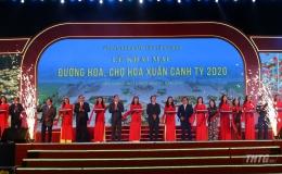 Tiền Giang đồng loạt khai mạc đường hoa, chợ hoa Xuân Canh Tý 2020