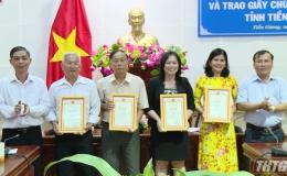 Tiền Giang trao giấy chứng cho 04 sản phẩm OCOP đạt tiêu chuẩn cấp tỉnh