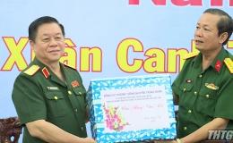 Thượng tướng Nguyễn Trọng Nghĩa thăm và chúc Tết Bộ Chỉ huy Quân sự tỉnh Tiền Giang
