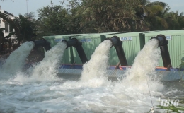 Lãnh đạo Huyện Gò Công Đông kiểm tra công tác phòng chống hạn mặn
