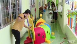 Các trường mầm non tổng vệ sinh trước ngày đón trẻ