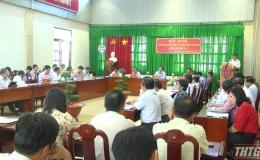 Lãnh đạo UBND tỉnh Tiền Giang kiểm tra tiến độ xây dựng nông thôn mới huyện Gò Công Tây