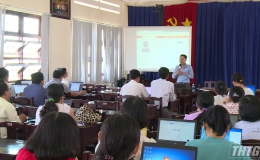 Trường THPT Chuyên Tiền Giang tập huấn dạy trực tuyến thời gian nghỉ học