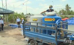 Chủ tịch UBND tỉnh kiểm tra công tác cung cấp nước ngọt cứu sầu riêng