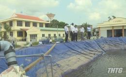 Lãnh đạo UBND tỉnh kiểm tra việc cấp nước trên địa bàn thị xã  Cai Lậy