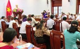 HĐND làm việc với UBND tỉnh Tiền Giang về việc thực hiện Nghị quyết 79 của HĐND tỉnh