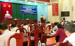 Thảo luận văn kiện Đại hội Đảng bộ tỉnh Tiền Giang lần thứ XI, nhiệm kỳ 2020-2025