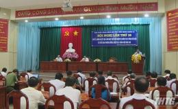 Tỉnh ủy Tiền Giang sơ kết tình hình thực hiện nhiệm vụ chính trị 6 tháng đầu năm 2020