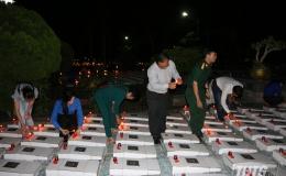 Thắp nến tri ân các anh hùng liệt sĩ tại Nghĩa trang Liệt sĩ tỉnh Tiền Giang