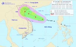 Áp thấp nhiệt đới giật cấp 10 có khả năng mạnh lên thành bão hướng vào Hà Nội