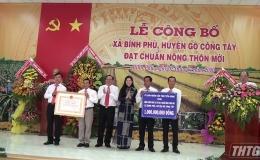 Gò Công Tây ra mắt xã nông thôn mới Bình Phú
