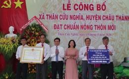 Chuyên đề 21.8 – Xã Thân Cửu Nghĩa, Châu Thành đạt chuẩn nông thôn mới