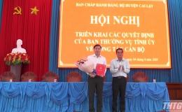 Ban Thường vụ Tỉnh ủy triển khai Quyết định về công tác cán bộ tại huyện Cai Lậy