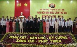 Ông Trần Thanh Nguyên tái đắc cử Bí thư Huyện uỷ Cái Bè, nhiệm kỳ 2020-2025
