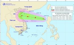 Áp thấp nhiệt đới đang mạnh lên thành bão trên Biển Đông