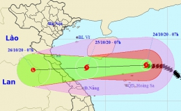 Bão số 8 tăng tốc hướng thẳng Hà Tĩnh – Quảng Trị, mưa trở lại từ đêm nay