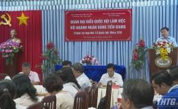 Đoàn Đại biểu Quốc hội Tiền Giang làm việc với ngành ngân hàng