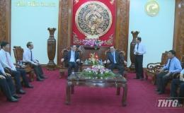Lãnh đạo UBND tỉnh Tiền Giang tiếp và làm việc với đoàn công tác Tổng lãnh sự nước Cộng hoà Nhân dân Trung Hoa