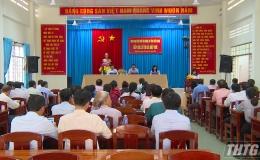 Đại biểu Quốc hội tỉnh Tiền Giang tiếp xúc cử tri trước kỳ họp thứ 10 Quốc hội Khóa XIV