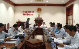 UBND tỉnh làm việc với Đoàn giám sát của HĐND tỉnh Tiền Giang