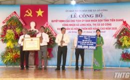 Xã Long Hòa, Thị xã Gò Công ra mắt xã nông thôn mới nâng cao