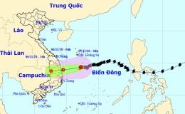 Bão số 10 sẽ suy yếu thành áp thấp nhiệt đới trên vùng biển Quảng Ngãi – Phú Yên