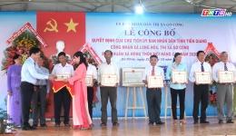 Chuyên đề 04.11 – Quá trình xây dựng xã Long Hòa đạt chuẩn nông thôn mới nâng cao