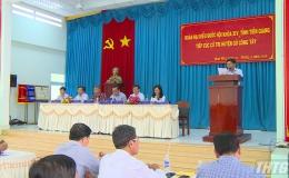 Đoàn ĐBQH tỉnh Tiền Giang tiếp xúc cử tri Gò Công Tây