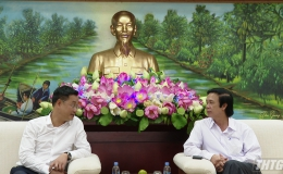 Bí thư Tỉnh uỷ Tiền Giang làm việc với lãnh đạo Đài Truyền hình Việt Nam