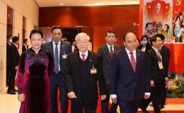 Tổng Bí thư, Chủ tịch nước và các đại biểu dự phiên trù bị Đại hội XIII