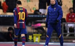 HLV Koeman bảo vệ Messi sau chiếc thẻ đỏ đầu tiên