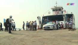 Nhân dân phấn khởi khi phà Rạch Miễu đi vào hoạt động trước tết Tân Sửu 2021