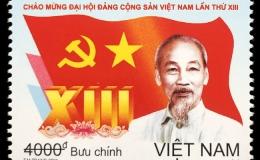 Bộ tem đặc biệt chào mừng Đại hội XIII của Đảng