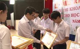 Tổng kết cuộc thi khoa học kỹ thuật tỉnh Tiền Giang dành cho học sinh trung học